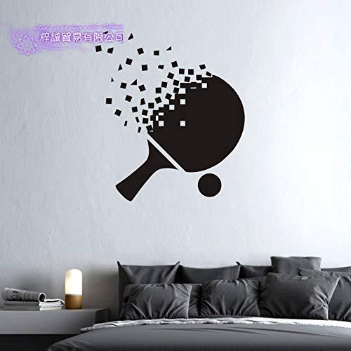 wopiaol Tenis de Mesa Pegatina Ping Pong murciélago Deportes calcomanías Carteles Vinilo Pared calcomanías Pegatina decoración Mural Tenis St 80x91cm