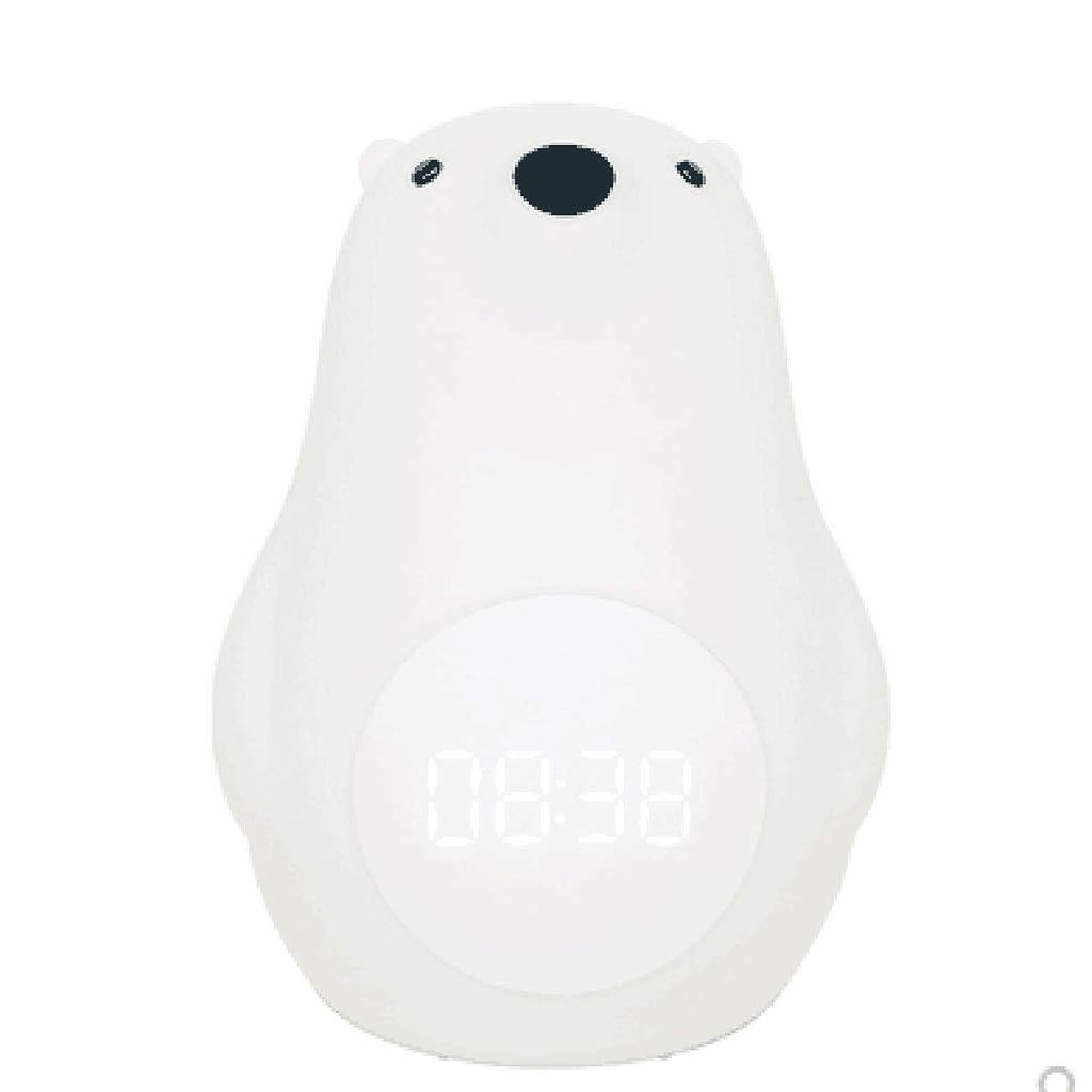 たまに野生町ナイトライト スリープライトホワイトベア充電ランプ母乳サウンドコントロールランプ付きシリコンナイトライトディレイ QDDSP