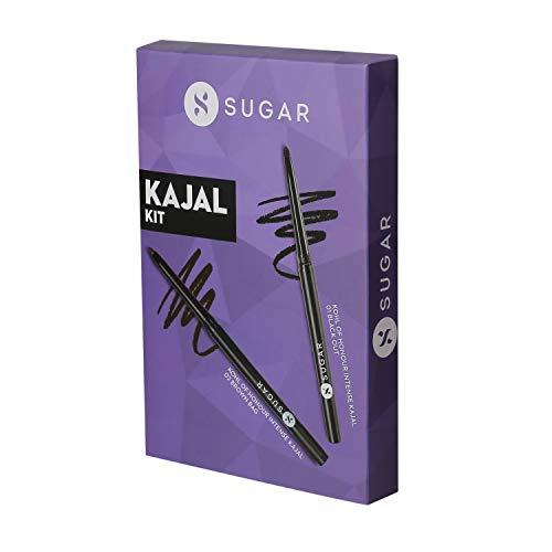 SUGAR Cosmetics Kohl Of Honour Intense Kajal, 01 Black Out (Black)+SUGAR Cosmetics Kohl Of Honour Intense Kajal - 02 Brown Bag...