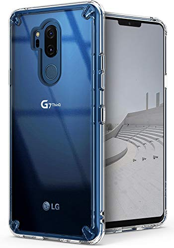 Ringke Fusion Compatible with LG G7, G7 ThinQ Case Crystal Clear PC Back Anti-Cling Dot Matrix Technology Lightweight Transparent TPU Bumper Drop Protective Cover - Clear
