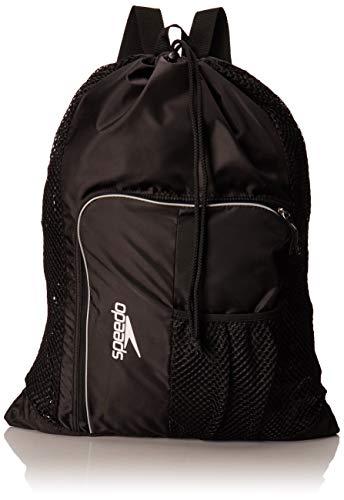 Speedo Deluxe Ventilator Mesh Equipment Bag, Black, 1SZ
