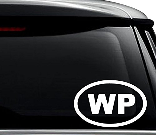 WP Widespread Panic Oval Decal Sticker For Use On Laptop, Helmet, Car, Truck, Motorcycle, Windows, Bumper, Wall, and Decor Size- [6 inch] / [15 cm] Wide / Color- Gloss White