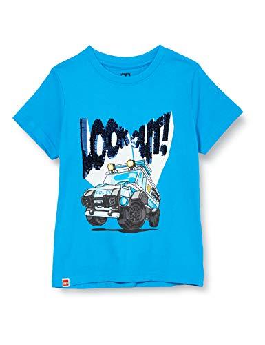 LEGO Jungen cm City T-Shirt, Blau (Light Blue 532), (Herstellergröße:116)