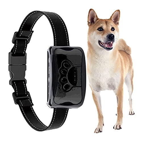 Antibell Halsband Hund Automatisch, Anti bellen Halsband No-Schock Wasserdicht,erziehungshalsband für Hunde wiederaufladbar Geeignet für kleine Hunde (Schwarz)