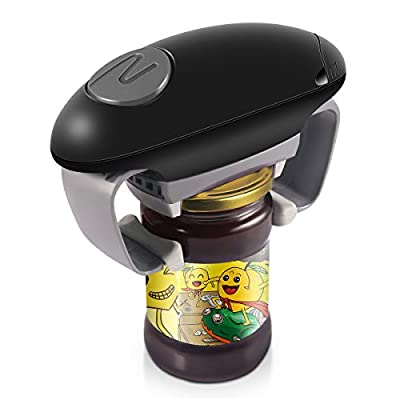 Electric Jar Opener, Kitchen Gadget Strong Tough Automatic Jar Opener For New Sealed Jars,the Hands Free Jar Opener with Less Effort to Open from KingGardan