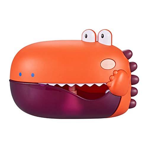 LMSHA Máquina de soplado de burbujas, juguete de baño para niños y niñas