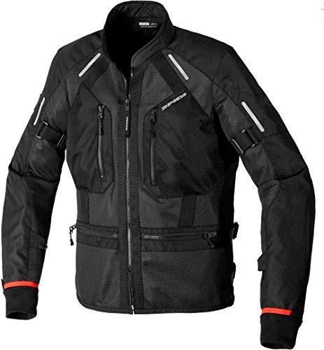 SPIDI Tech Armor - Chaqueta textil para moto, color negro, 3XL
