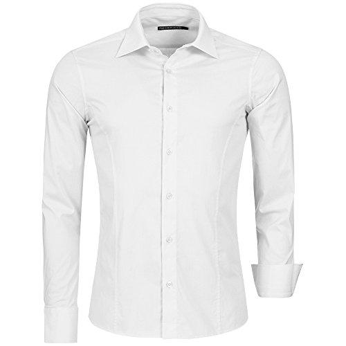 Redbridge R-2111, Camicia casual Uomo, Bianco (White 095), L