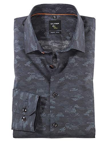 OLYMP Herren Hemd Baumwolle Modisch Grau 42