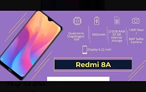 Smartphone Xiaomi Redmi 8A 2GB Ram Tela 6.2 32GB Camera 12MP - Preto