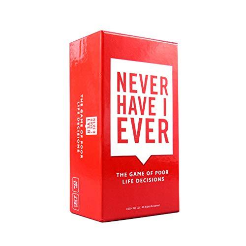 Never Have I Ever: Brettspiel-Karte Spiel Solitaire - Partyspiel für Erwachsene, 4-12+ Spieler, Ab 17 Jahren (Englische Version)