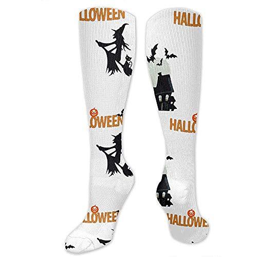 WlyFK - Calcetines de compresión para Halloween Wizard.Png, ideales para viajes de vuelo deportivo, para el cuidado y el fitness