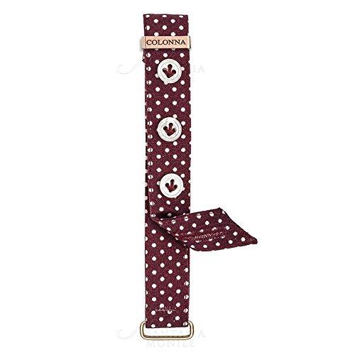 Repuesto muñequeras Sartoriale Mujer Relojes Columna algodón Tela Burdeos Lunares Blancos 12mm...