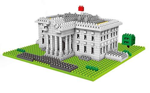 Modbrix Bloques de construcción de la casa blanca 874 nanos bloques de construcción