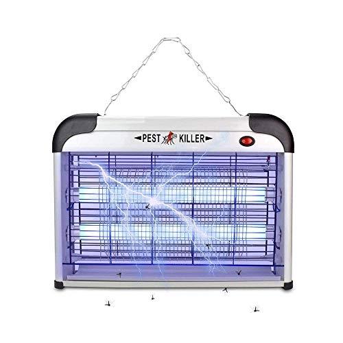 QNN Lámpara de Mosquito Ultravioleta Huelgas Eléctricas Faro Adecuado para Cocina Casera. Césped Al Aire Libre Jardín de Jardín 20w Linterna/Blanco