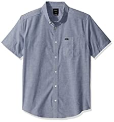 The RVCA That'll Do Stretch Mens Short Sleeve Shirt delivers classic lines alongside active function. Adding to a stretch oxford construction, the premium slim fit mens shirt offers up signature tones, bringing an original feel to your everyday essen...