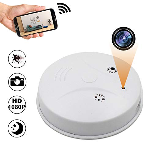 Smoke Detector Spy Camera, Camakt 1080P WiFi Hidden Camera Wireless Mini Camera Home Security Nanny Cam with Motion Detector/Night Vision for iOS/Android/PC