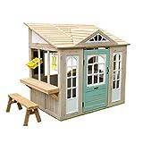 KidKraft- Casa de Juguete de Exteriores Jardines y Patios Meadowlane Market Play Kitchen, Color marrón (200)