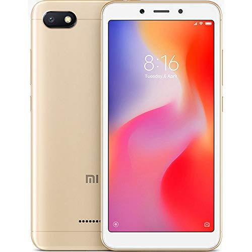 """Xiaomi Redmi 6A - Smartphone de 5.45"""" (Helio A22, RAM de 2 GB, Memoria de 32 GB, cámara de 13 MP, Android 8.1) Color Dorado"""