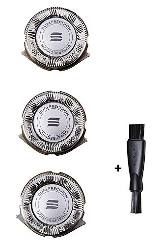 HQ8 Replacement Heads for Philips Norelco Shaver 3100/4100/4500, Dual Precision Electric Razors Head,High Precision Dual Blade Cutting System,3 Pack New (Free Cleaning Brushes)