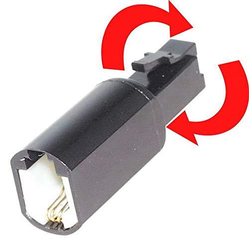 erenLine® Flexibler Verdrehschutz/Kabelentwirrer für Telefonhörer - Spiralkabel; verhindert das Verdrillen von Telefonhörerkabeln; schwarz [Twist-Stop, Verdrillschutz]