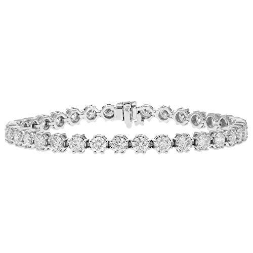 8.55 CT I1-I2 IGI Certified Diamond Bracelet 14K White Gold 8 Prong (H-I)