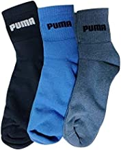 PUMA Men's Athletic Socks (Pack of 3) Soft Cotton, Cushioned Sole, Flat Toe Seam, Regular Quarter Fit - Assorted Colors