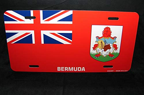 MNUT bermuda flag metal novelty license plate for cars license plate 6x12 inches