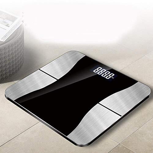 ZW High Precision Smart-weegschaal, bluetooth-schaal met smartphone-app, digitale weegschaal voor badkamer, lichaamsvet en vetmeter wegen