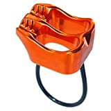 GYDING Professional Rescue ATC Guide Belay Device 25KN V-grooved Safety Abseiling Belay Device for Climbing Rappelling (Orange)