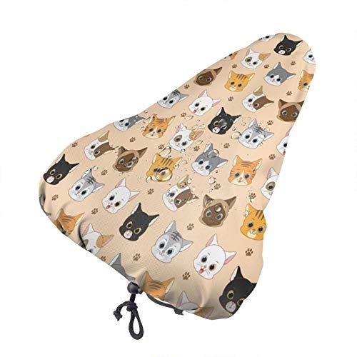 Bong6o Cat 'S Meow - Funda para asiento de bicicleta unisex extra suave y duradera