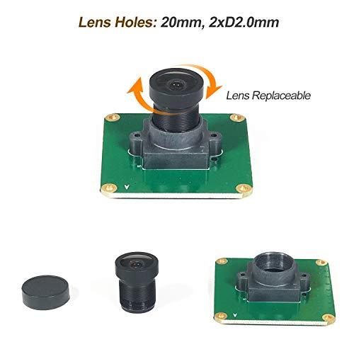 Raspberry Pi Industrial Camera Module STARVIS IMX327LQR Color CMOS Sensor 2.13M Pixel Wide Angle Fisheye Lens for Rasp Pi 4 3B+ 3B Zero A+ CM3+ CM3