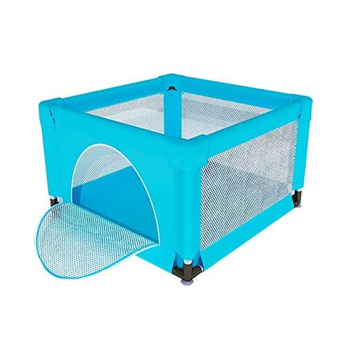 LXDDP Parc bébé pour Parc Loisirs pour Centre d'activités, barrière Jeu très Haute pour Enfants, Anti-Renversement et Anti-Chute, 120 × 120 × 70 cm (Couleur: Bleu)