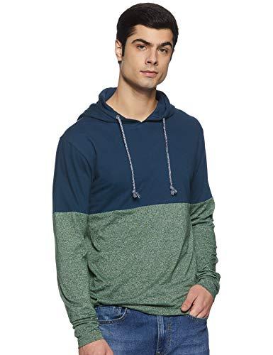 Amazon Brand - Inkast Denim Co. Men's Solid Regular fit T-Shirt (SS20INKTEEHD19-B_Green S)
