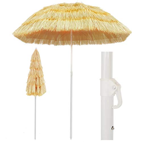 SOULONG Ombrellone Parasole, Ombrellone da Spiaggia in Paglia Tropicale Hawaii Ombrellone Grande da Esterno per Piscina, Gazebo, Terrazze, Bar, Hotel, Balconi (180cm)