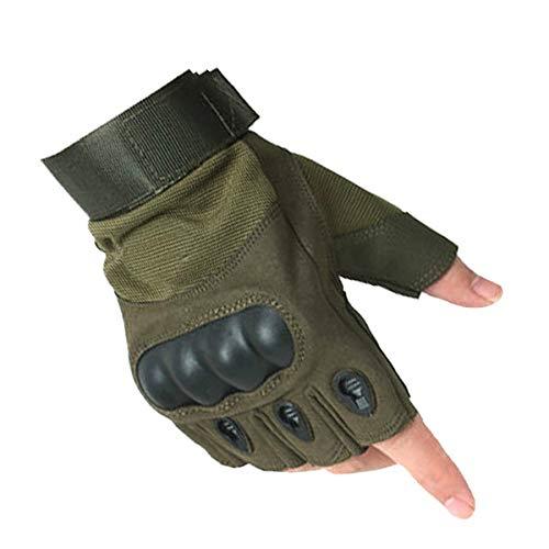 Badry 2019 Herrenhandschuhe Outdoor Sports Half Finger rutschfeste Carbon Shell Glovesarmy Green M