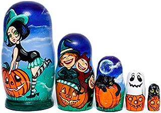 Halloween Nesting dolls, Handmade wooden toy, Halloween decoration, Russian nesting dolls for kids, Halloween gift, Halloween cake topper