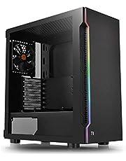 Thermaltake H200 TG RGB ミドルタワー型PCケース 強化ガラス フロントLEDバー搭載 CA-1M3-00M1WN-00 CS7632