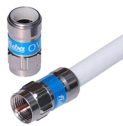 4 Stück - F-Stecker/Push-On F-Stecker 6.8mm Fuba OVZ 027