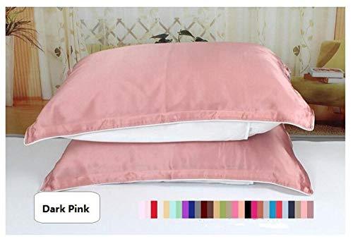 HNLHLY eenzijdige kussensloop van zijde, omslag, kussensloop van zuivere zijde, gezond slapen, meerkleurig optioneel, 1st
