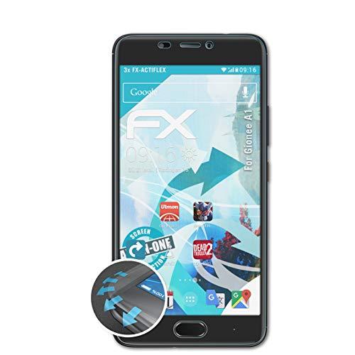 atFolix Schutzfolie kompatibel mit Gionee A1 Folie, ultraklare & Flexible FX Bildschirmschutzfolie (3X)