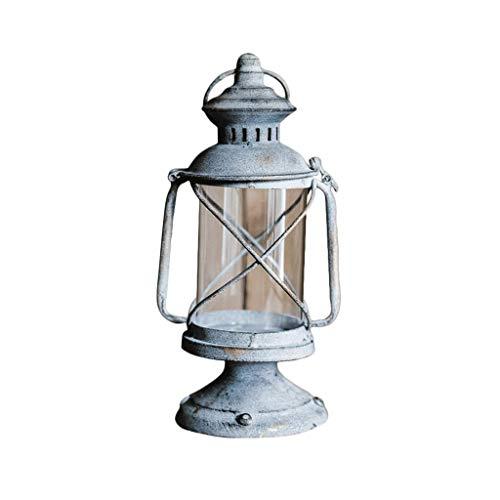 Europese Retro smeedijzeren Kandelaar Vintage Olie Lamp Kleine Kaars Lantaarns Decoratieve Ornamenten, Tuin boodschappenrekwisieten Binnenplaats verlichting