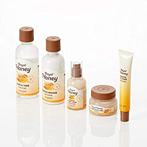 SKINFOOD Royal Honey Essential Emulsion 160ml (5.41 fl.oz.) - Concentrated Aged Honey Skin Nourishing & Hydrating Essential Emulsion, Skin Moisturizing & Glowing for Dry and Rough Skin