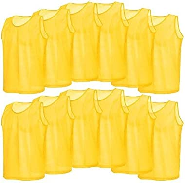 Mesh Scrimmage Team Practice Vests,12 Pack Mesh Scrimmage Training Vests Football Vest Adults Jerseys Bibs for Volleyball Soc