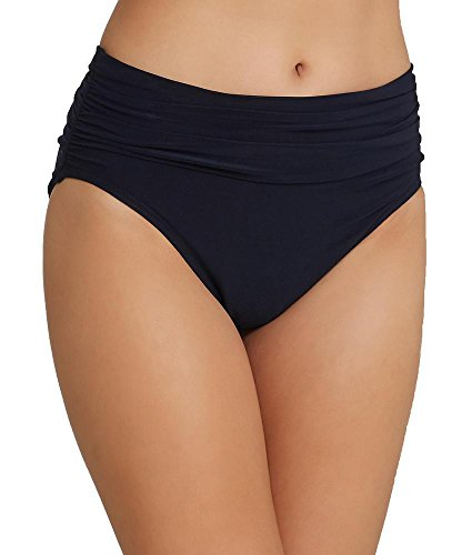 Magicsuit Women's Solids Shirred Jersey Bottom Black Swimsuit Bottoms