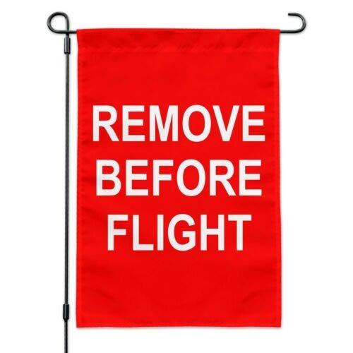 Dom576son Seasonal Garden Flag, 12 x 18 inch Outdoor Flag, Garden Banner, Remove Before Flight Airplane Warning Garden Yard Flag