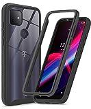 T-Mobile Revvl 4+/ Plus Phone Case, TCL Revvl 4+ Case, LeYi Full-Body Protective Hybrid Shockproof Bumper Anti-Scratch Clear Phone Cover Cases for T-Mobile Revvl 4+, Black