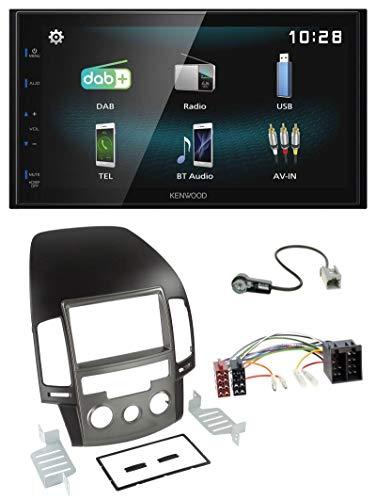 caraudio24 Kenwood DMX125DAB Bluetooth 2DIN USB DAB MP3 Autoradio für Hyundai i30 (ab 08)