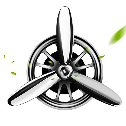 aokway Car Air Fresheners Vent Clip, Essential Oil Car Fragrance Diffuser Vent Clip Car Decoration Car Purifier Air Force I Spin Propeller Gift(Silver)