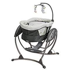 Swing seat doubles as a rocker giving you flexibility to provide your baby a safe, soothing spot to play Easy one-hand recline lever allows you to lower the seat into a rocker without having to move your baby Soothes with the same gentle motion you u...